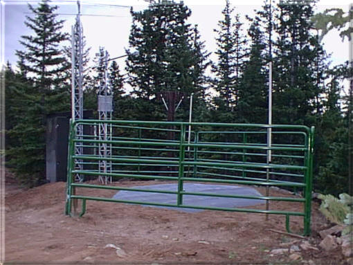 Photograph is of the Ute Creek  SNOTEL site.