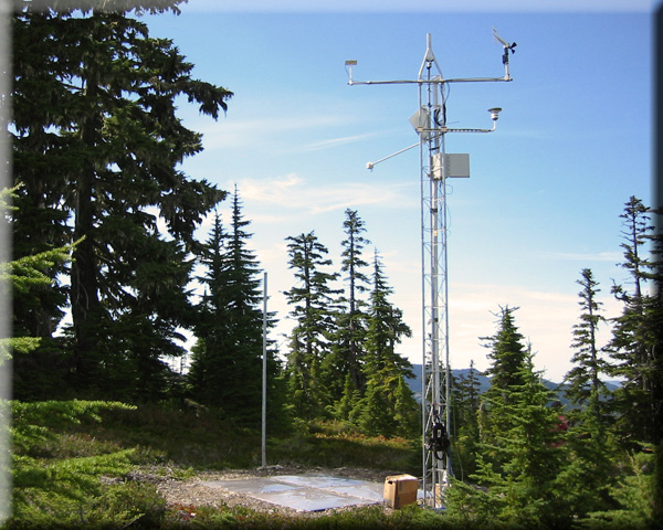 Photograph is of the MF Nooksack  SNOTEL site.