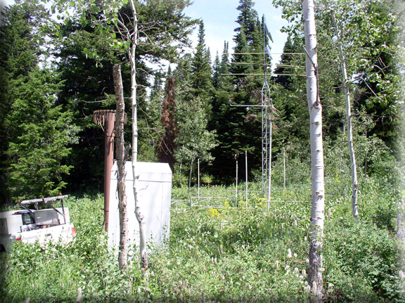 Photograph is of the Temple Fork           SNOTEL site.