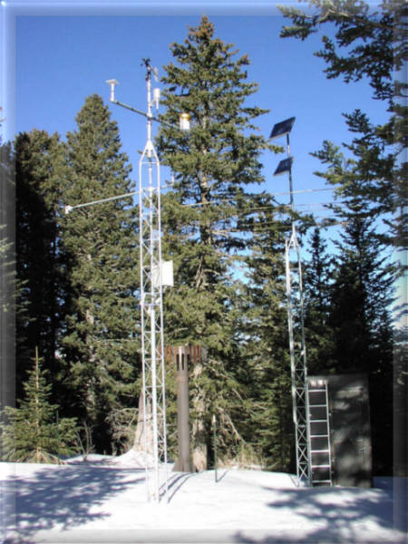 Photograph is of the Sierra Blanca  SNOTEL site.