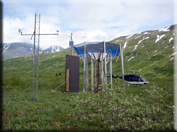 Photograph is of the Nuka Glacier  SNOTEL site.