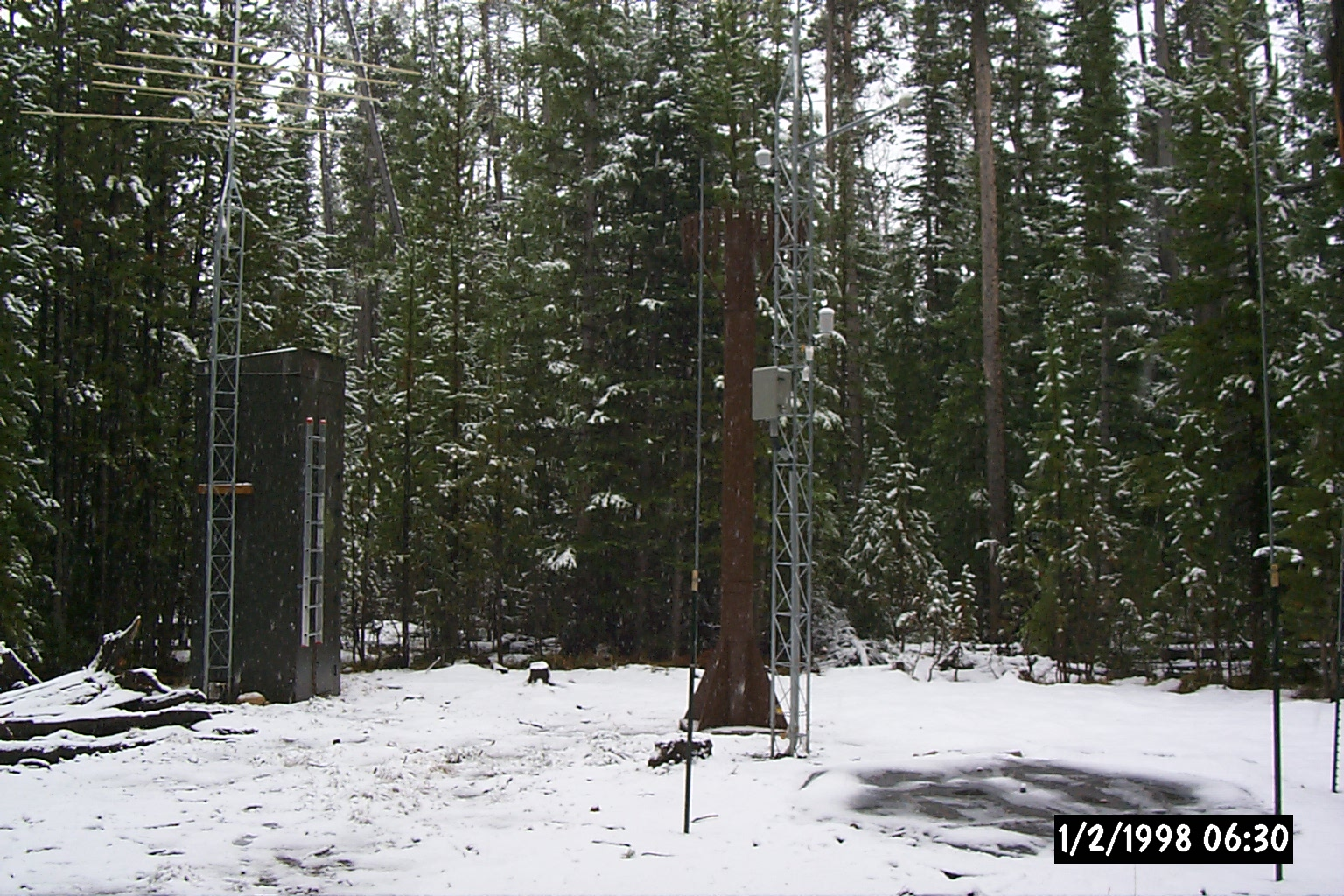 Photograph is of the Cinnabar Park  SNOTEL site.