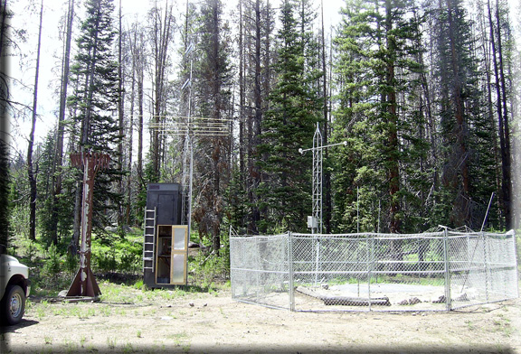 Photograph is of the Little Snake River    SNOTEL site.