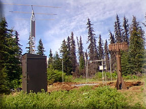 Photograph is of the Anchor River Divide  SNOTEL site.