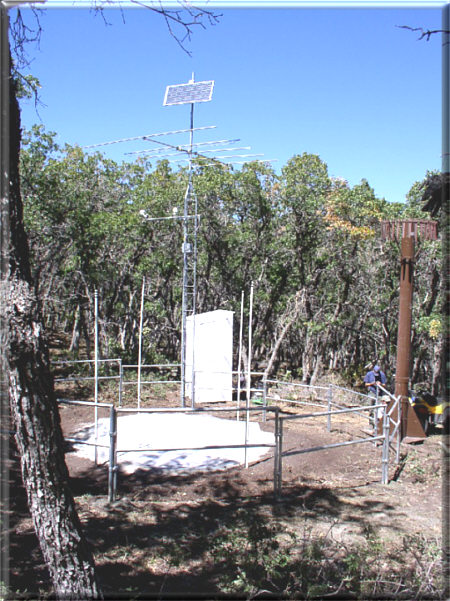 Photograph is of the Gutz Peak  SNOTEL site.