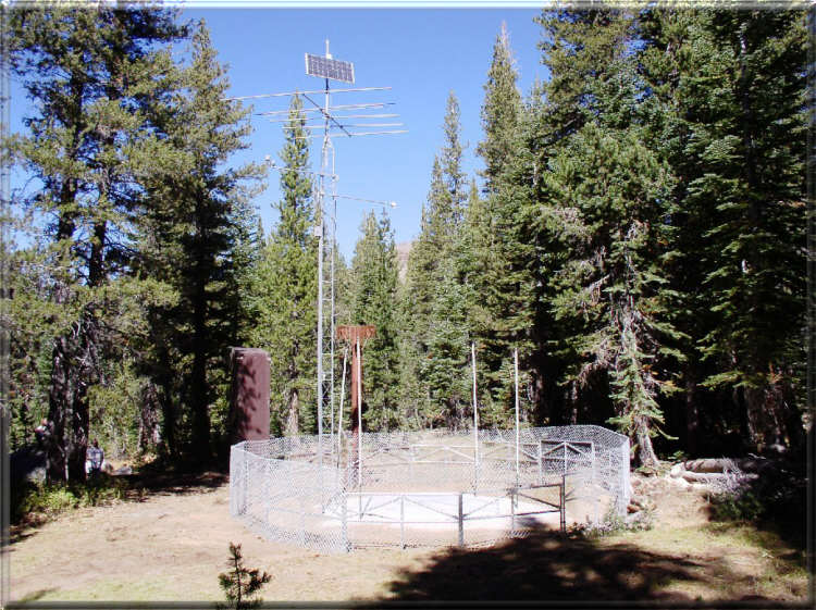 Photograph is of the Carson Pass  SNOTEL site.