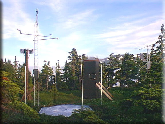 Photograph is of the Mt. Eyak  SNOTEL site.
