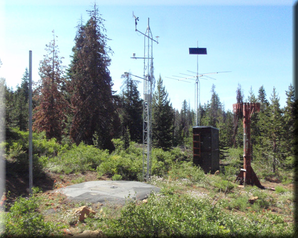 Photograph is of the Swan Lake Mtn  SNOTEL site.