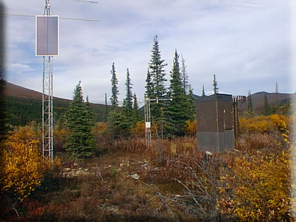 Photograph is of the Upper Nome Creek  SNOTEL site.
