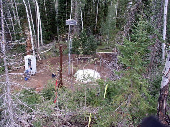 Photograph is of the Timberline  SNOTEL site.