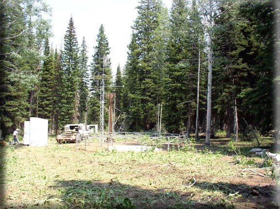 Photograph is of the Usu Doc Daniel  SNOTEL site.