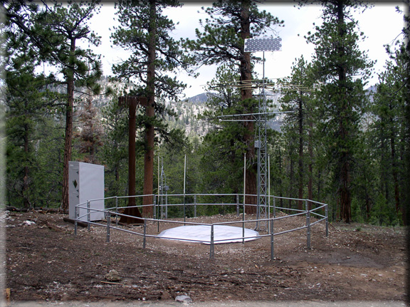 Photograph is of the Lee Canyon  SNOTEL site.