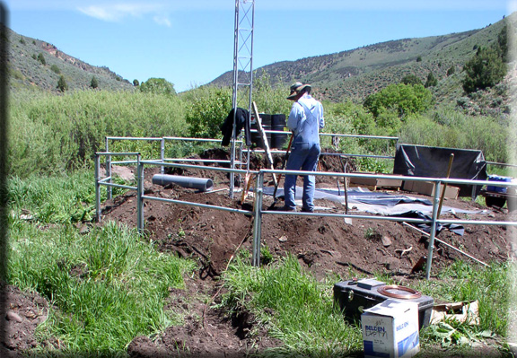 Photograph is of the Lost Creek Resv  SNOTEL site.