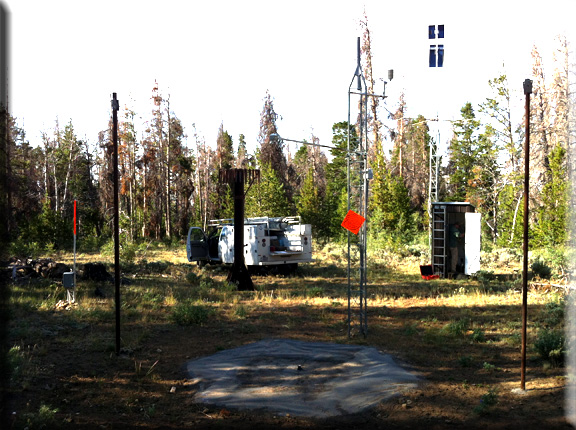 Photograph is of the Larsen Creek  SNOTEL site.