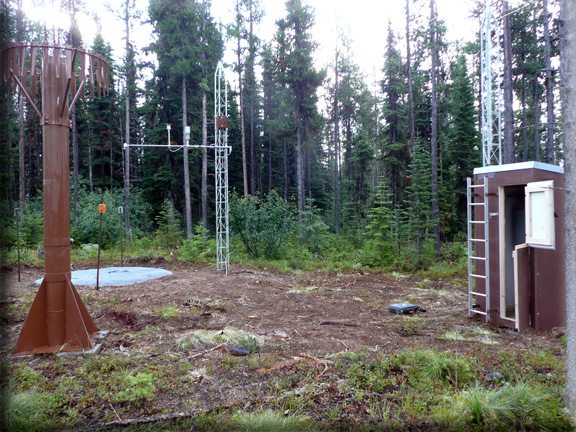 Photograph is of the Blacktail Mtn  SNOTEL site.