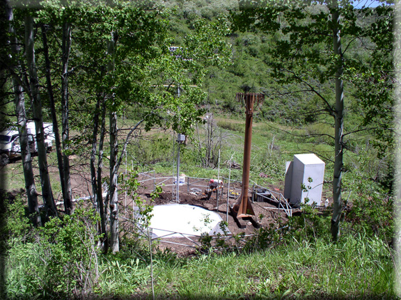 Photograph is of the Kilfoil Creek  SNOTEL site.