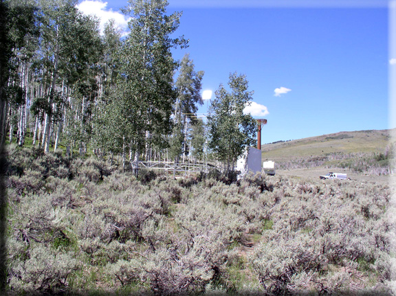 Photograph is of the Fish Lake Utah  SNOTEL site.