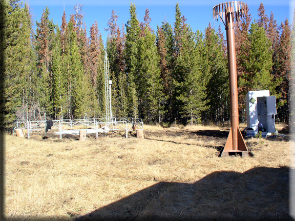 Photograph is of the EF Blacks Fork GS  SNOTEL site.