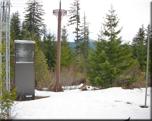 Photograph is of the Smith Ridge  SNOTEL site.
