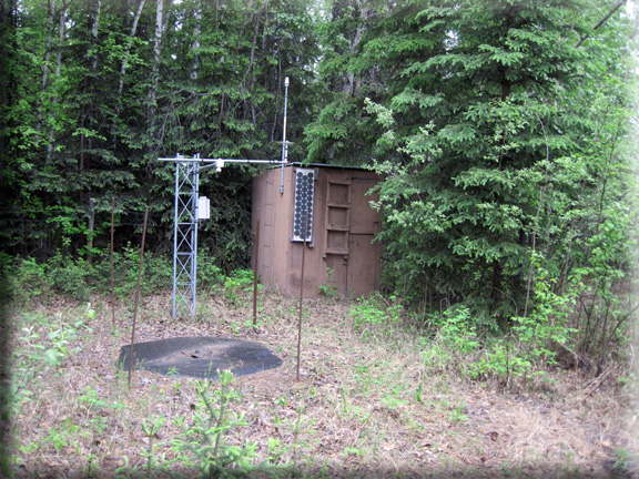 Photograph is of the Fairbanks F.O.  SNOTEL site.