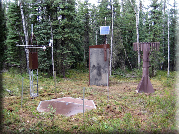 Photograph is of the American Creek  SNOTEL site.