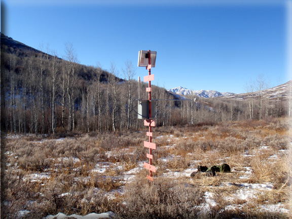 Photograph is of the Columbia Basin  SNOTEL site.