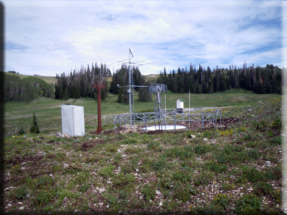 Photograph is of the GBRC Meadows  SNOTEL site.