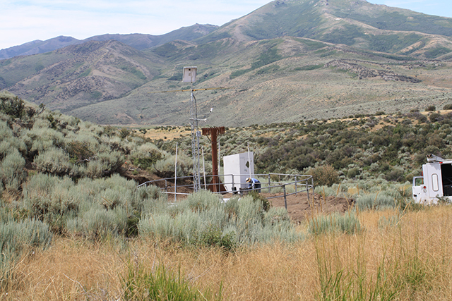Photograph is of the Dry Creek  SNOTEL site.