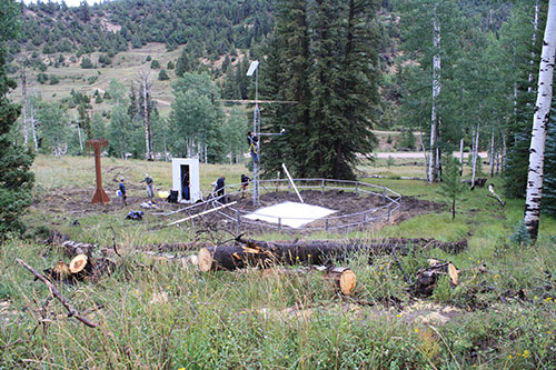 Photograph is of the Suu Ranch  SNOTEL site.