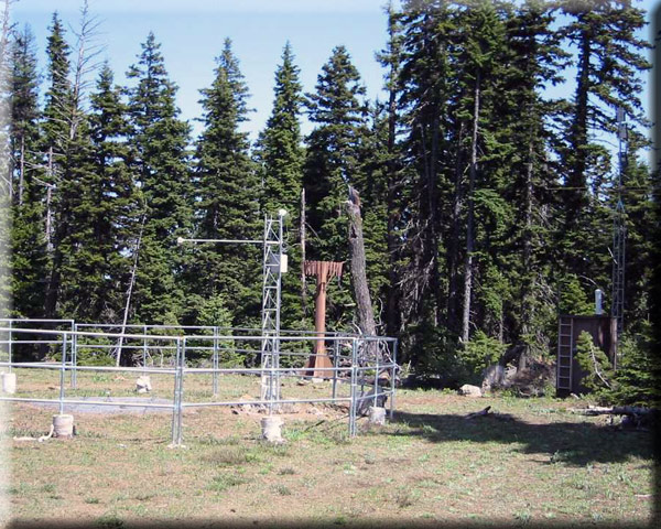 Photograph is of the Arbuckle Mtn  SNOTEL site.