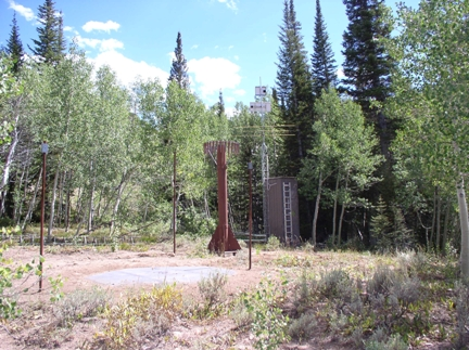 Photograph is of the Bear Creek  SNOTEL site.