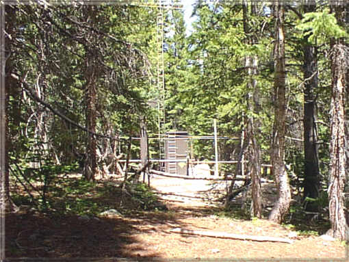 Photograph is of the Bear Lake             SNOTEL site.