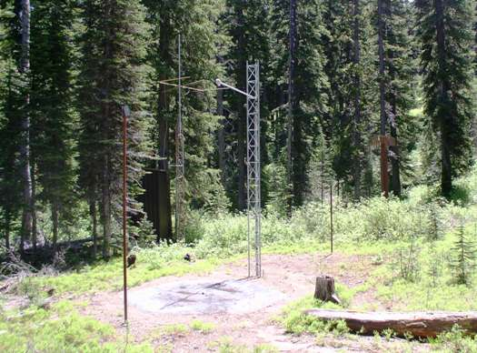 Photograph is of the Big Creek Summit  SNOTEL site.
