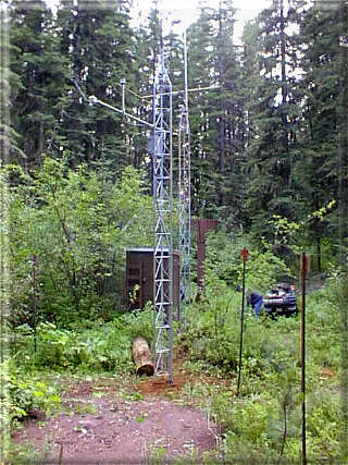 Photograph is of the Bisson Creek          SNOTEL site.