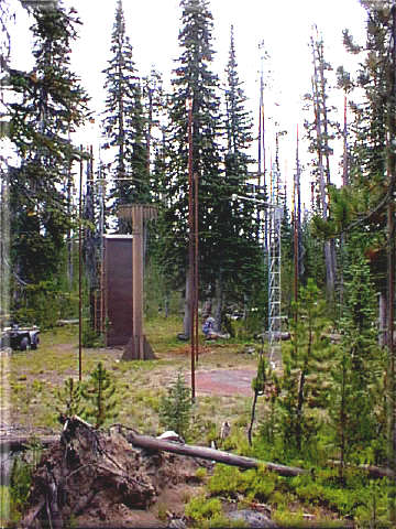 Photograph is of the Black Bear            SNOTEL site.