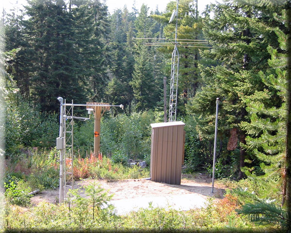 Photograph is of the Blewett Pass          SNOTEL site.