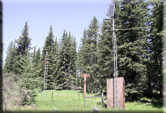 Photograph is of the Blind Park  SNOTEL site.