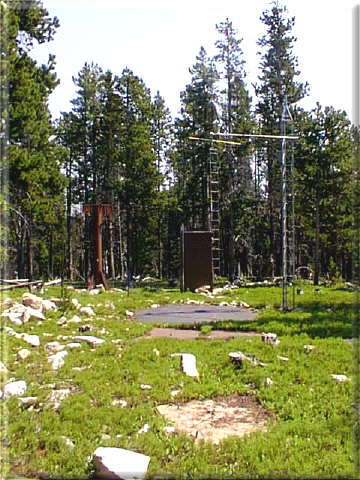 Photograph is of the Boulder Mountain      SNOTEL site.