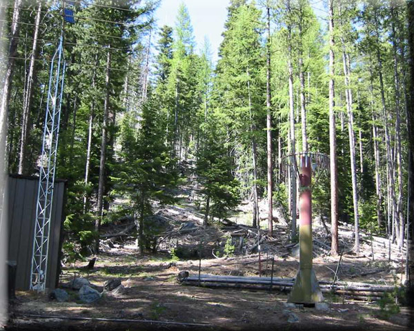Photograph is of the Bourne  SNOTEL site.