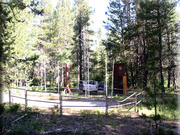 Photograph is of the Bug Lake              SNOTEL site.