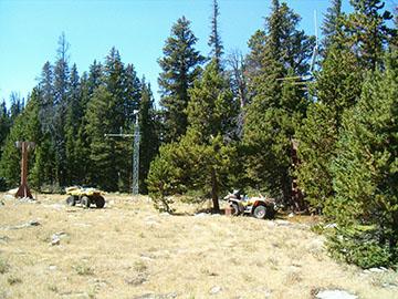 Photograph is of the Cloud Peak Reservoir  SNOTEL site.
