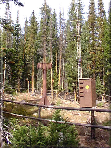 Photograph is of the Cold Springs  SNOTEL site.