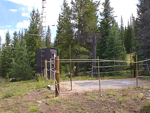 Photograph is of the Copper Mountain  SNOTEL site.