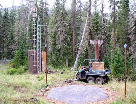 Photograph is of the Cottonwood Creek  SNOTEL site.