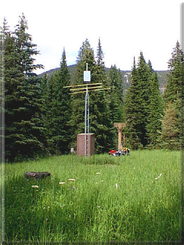 Photograph is of the Crystal Lake  SNOTEL site.
