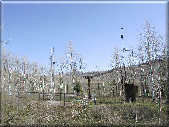 Photograph is of the Daniels-Strawberry  SNOTEL site.
