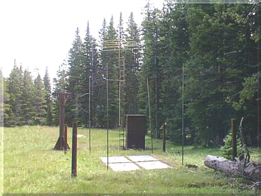 Photograph is of the Deadman Hill          SNOTEL site.
