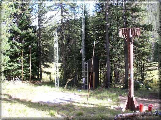 Photograph is of the Deadwood Summit  SNOTEL site.