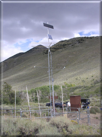 Photograph is of the Diamond Peak  SNOTEL site.