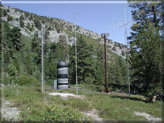 Photograph is of the Echo Peak             SNOTEL site.
